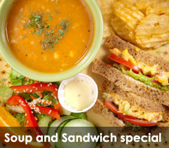 Fezziwig's Cafe-Bakery Kelowna Soup and Sandwich Special