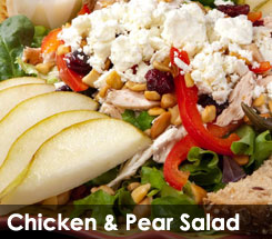 Fezziwig's Cafe-Bakery Kelowna Chicken & Pear Salad